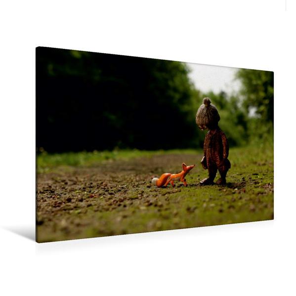 Premium Textil-Leinwand 120 cm x 80 cm quer, Begegnung | Wandbild, Bild auf Keilrahmen, Fertigbild auf echter Leinwand, Leinwanddruck - Coverbild