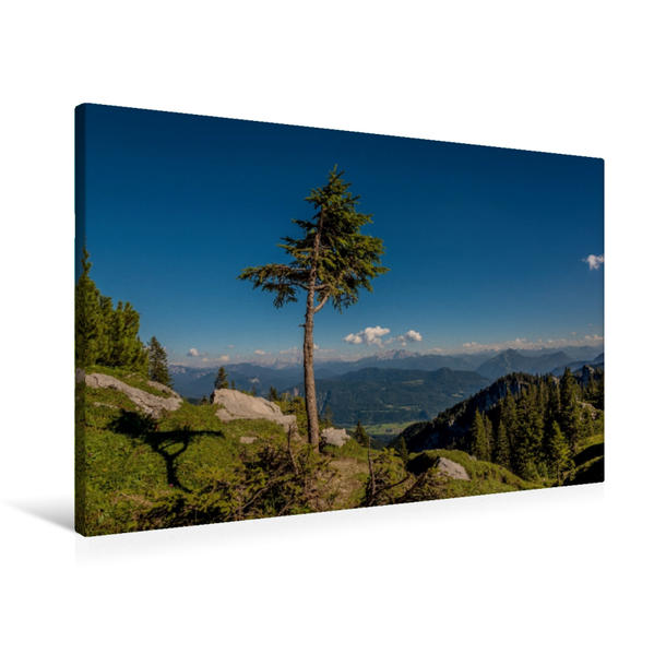 Premium Textil-Leinwand 90 cm x 60 cm quer, An der Sonnenalm | Wandbild, Bild auf Keilrahmen, Fertigbild auf echter Leinwand, Leinwanddruck - Coverbild