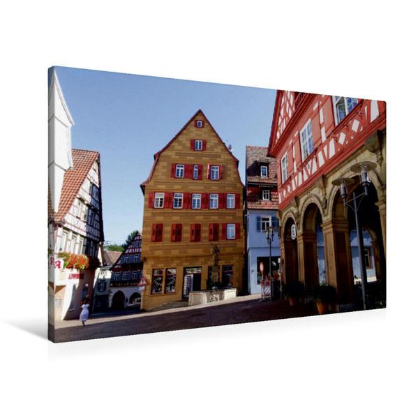 Premium Textil-Leinwand 90 cm x 60 cm quer, Blick auf den Fruchtkasten | Wandbild, Bild auf Keilrahmen, Fertigbild auf echter Leinwand, Leinwanddruck - Coverbild