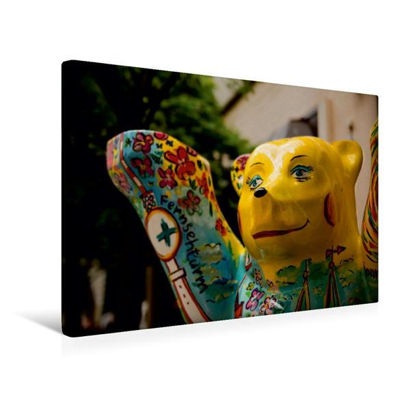 Premium Textil-Leinwand 45 cm x 30 cm quer, Nikolaiviertel - Berlin-Mitte | Wandbild, Bild auf Keilrahmen, Fertigbild auf echter Leinwand, Leinwanddruck - Coverbild