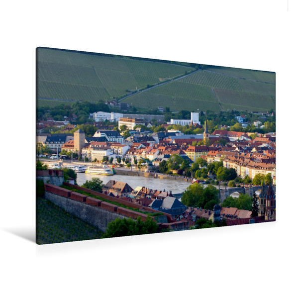 Premium Textil-Leinwand 120 cm x 80 cm quer, Würzburg   Wandbild, Bild auf Keilrahmen, Fertigbild auf echter Leinwand, Leinwanddruck - Coverbild