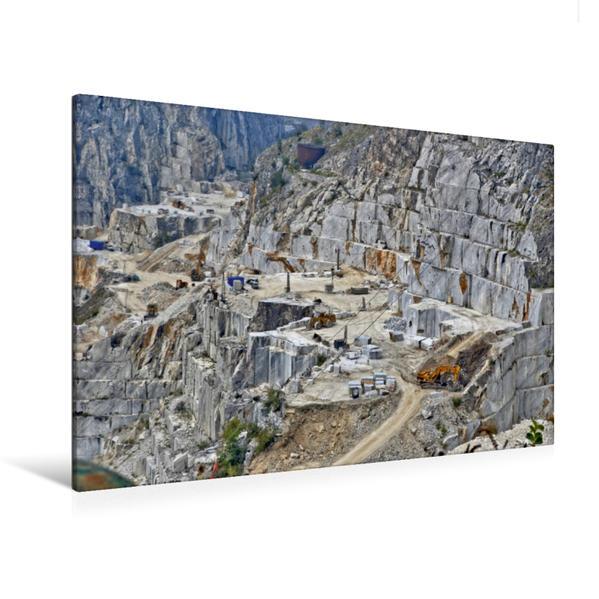 Premium Textil-Leinwand 120 cm x 80 cm quer, Carrara Abbauterrasse | Wandbild, Bild auf Keilrahmen, Fertigbild auf echter Leinwand, Leinwanddruck - Coverbild