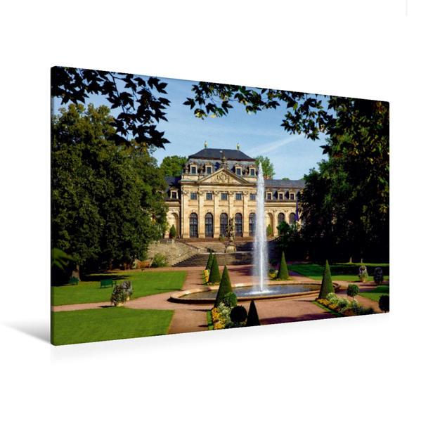 Premium Textil-Leinwand 120 cm x 80 cm quer, Stadtpark mit Blick auf die Orangerie | Wandbild, Bild auf Keilrahmen, Fertigbild auf echter Leinwand, Leinwanddruck - Coverbild