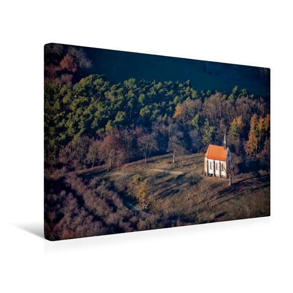 Premium Textil-Leinwand 45 cm x 30 cm quer, Herz-Jesu Kapelle auf dem Schulzenberg   Wandbild, Bild auf Keilrahmen, Fertigbild auf echter Leinwand, Leinwanddruck - Coverbild