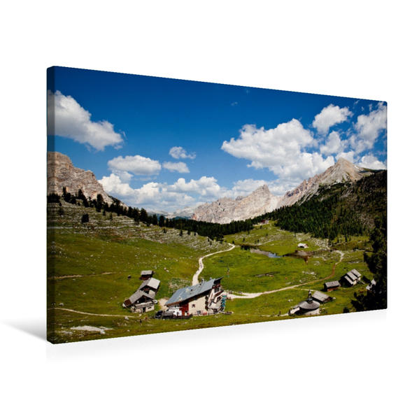 Premium Textil-Leinwand 75 cm x 50 cm quer, Fanes-Panorama | Wandbild, Bild auf Keilrahmen, Fertigbild auf echter Leinwand, Leinwanddruck - Coverbild