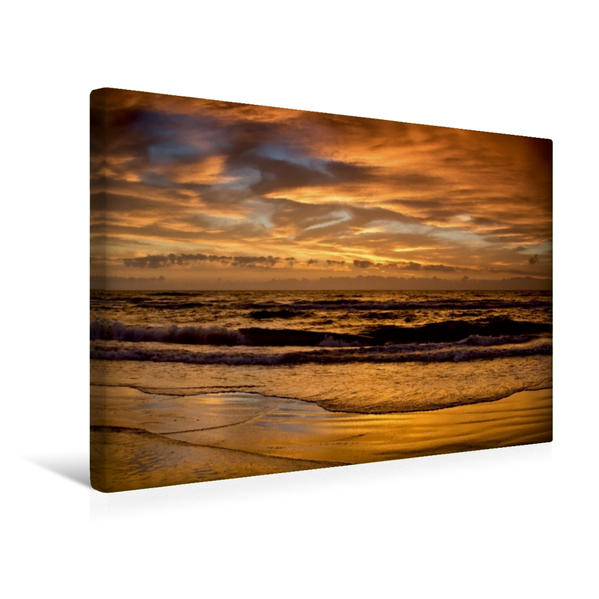 Premium Textil-Leinwand 45 cm x 30 cm quer, Tversted Strand / DK   Wandbild, Bild auf Keilrahmen, Fertigbild auf echter Leinwand, Leinwanddruck - Coverbild
