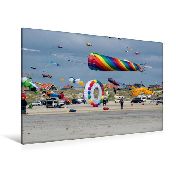 Premium Textil-Leinwand 120 cm x 80 cm quer, Fanø Bad | Wandbild, Bild auf Keilrahmen, Fertigbild auf echter Leinwand, Leinwanddruck - Coverbild