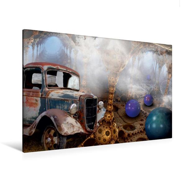 Premium Textil-Leinwand 120 cm x 80 cm quer, Ausflug in den Zauberwald | Wandbild, Bild auf Keilrahmen, Fertigbild auf echter Leinwand, Leinwanddruck - Coverbild