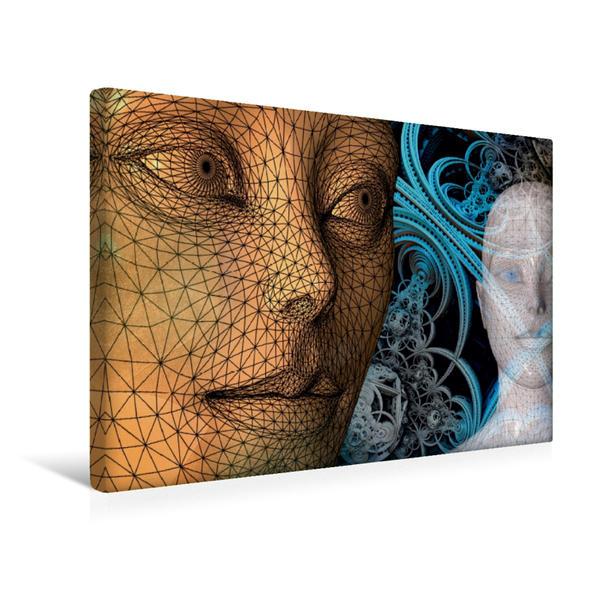 Premium Textil-Leinwand 45 cm x 30 cm quer, HAN  Human Area Network | Wandbild, Bild auf Keilrahmen, Fertigbild auf echter Leinwand, Leinwanddruck - Coverbild