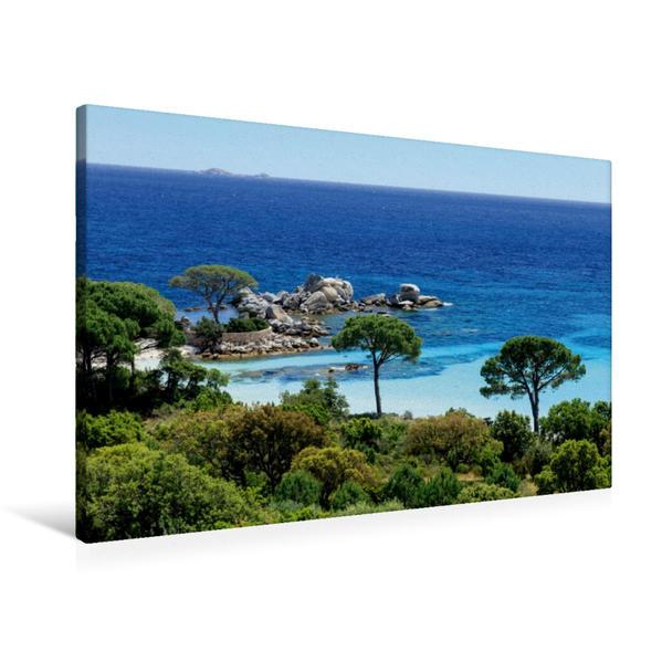 Premium Textil-Leinwand 90 cm x 60 cm quer, Punta di Colombara | Wandbild, Bild auf Keilrahmen, Fertigbild auf echter Leinwand, Leinwanddruck - Coverbild