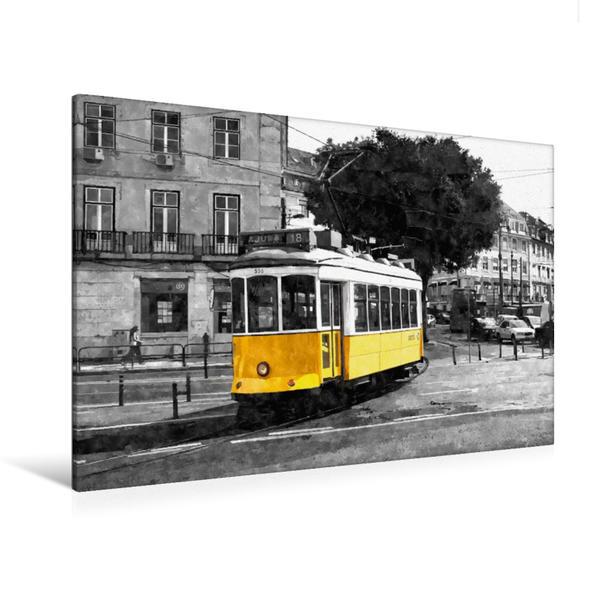 Premium Textil-Leinwand 120 cm x 80 cm quer, Elétrico Numero 18 | Wandbild, Bild auf Keilrahmen, Fertigbild auf echter Leinwand, Leinwanddruck - Coverbild