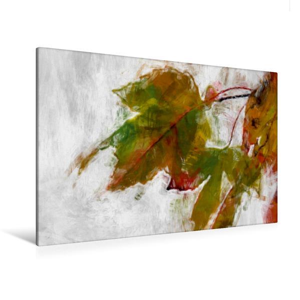 Premium Textil-Leinwand 120 cm x 80 cm quer, Ein Motiv aus dem Kalender Blumen und Blätter in abstrakter Art   Wandbild, Bild auf Keilrahmen, Fertigbild auf echter Leinwand, Leinwanddruck - Coverbild