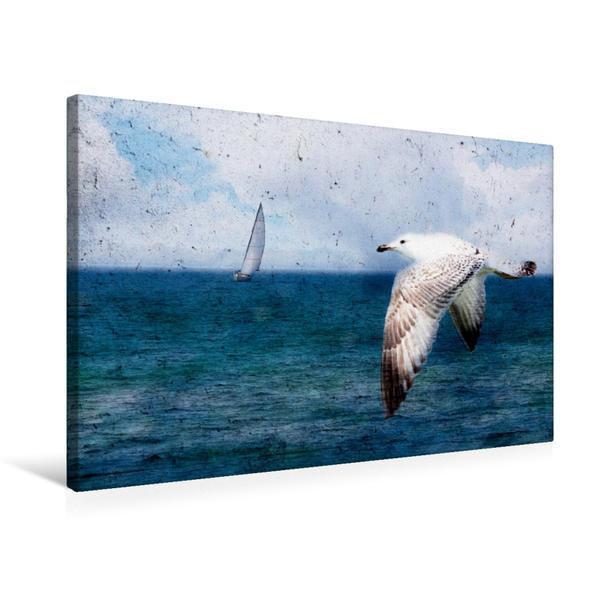 Premium Textil-Leinwand 75 cm x 50 cm quer, Ab in den Süden | Wandbild, Bild auf Keilrahmen, Fertigbild auf echter Leinwand, Leinwanddruck - Coverbild