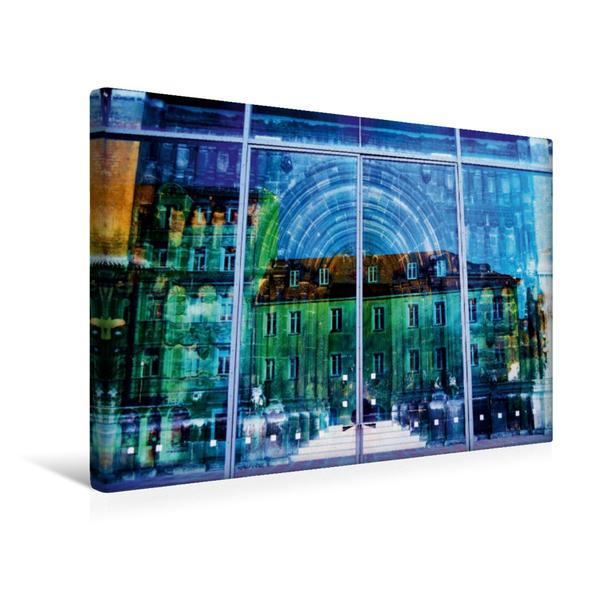 Premium Textil-Leinwand 45 cm x 30 cm quer, Regensburg | Wandbild, Bild auf Keilrahmen, Fertigbild auf echter Leinwand, Leinwanddruck - Coverbild
