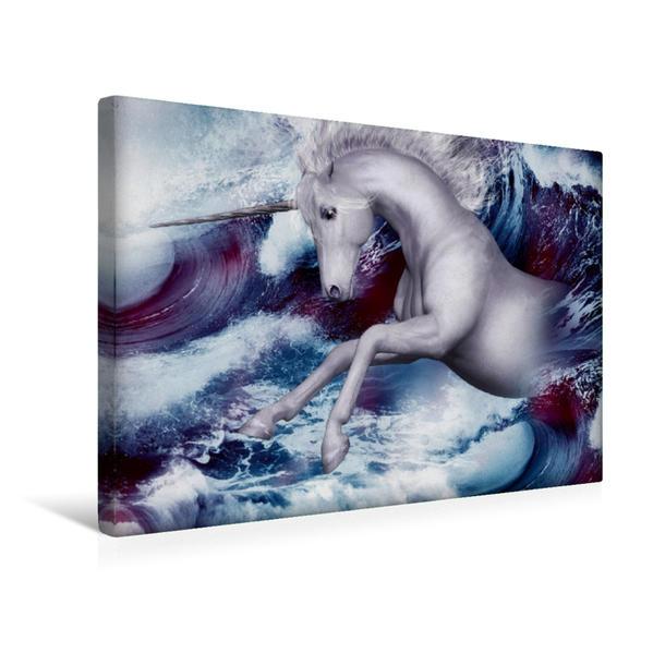 Premium Textil-Leinwand 45 cm x 30 cm quer, Aus dem Meer entsprungen | Wandbild, Bild auf Keilrahmen, Fertigbild auf echter Leinwand, Leinwanddruck - Coverbild