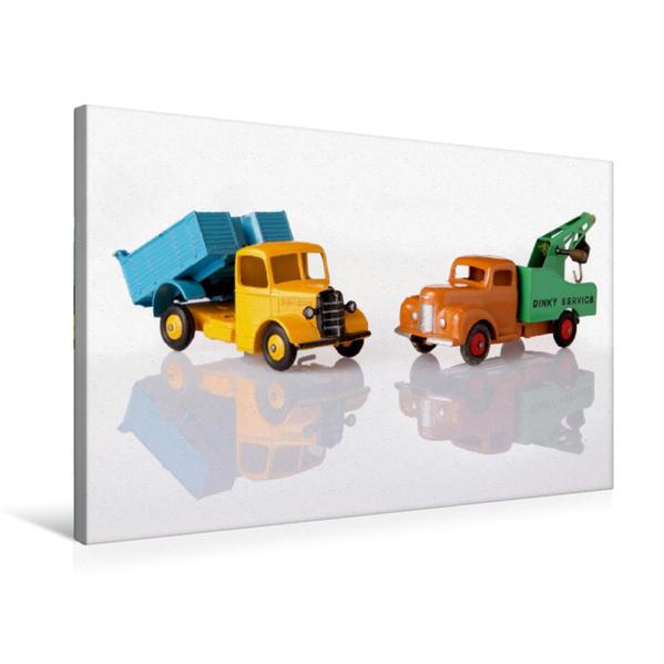 Premium Textil-Leinwand 75 cm x 50 cm quer, Dinky Toys Spielzeugautos | Wandbild, Bild auf Keilrahmen, Fertigbild auf echter Leinwand, Leinwanddruck - Coverbild