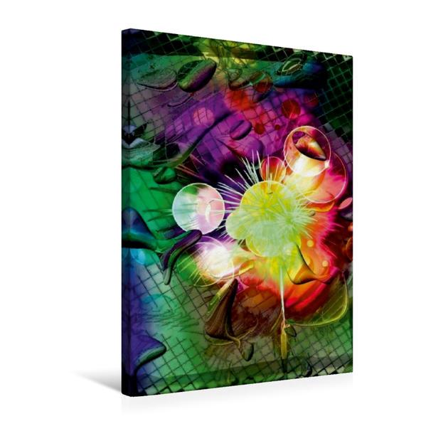 Premium Textil-Leinwand 50 cm x 75 cm hoch, Neujahrs Tropfen | Wandbild, Bild auf Keilrahmen, Fertigbild auf echter Leinwand, Leinwanddruck - Coverbild