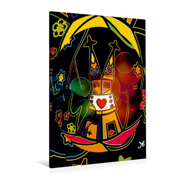 Premium Textil-Leinwand 80 cm x 120 cm  hoch, Schwarzer Dom | Wandbild, Bild auf Keilrahmen, Fertigbild auf echter Leinwand, Leinwanddruck - Coverbild
