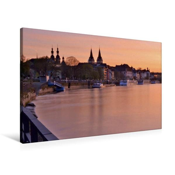 Premium Textil-Leinwand 90 cm x 60 cm quer, Koblenz | Wandbild, Bild auf Keilrahmen, Fertigbild auf echter Leinwand, Leinwanddruck - Coverbild