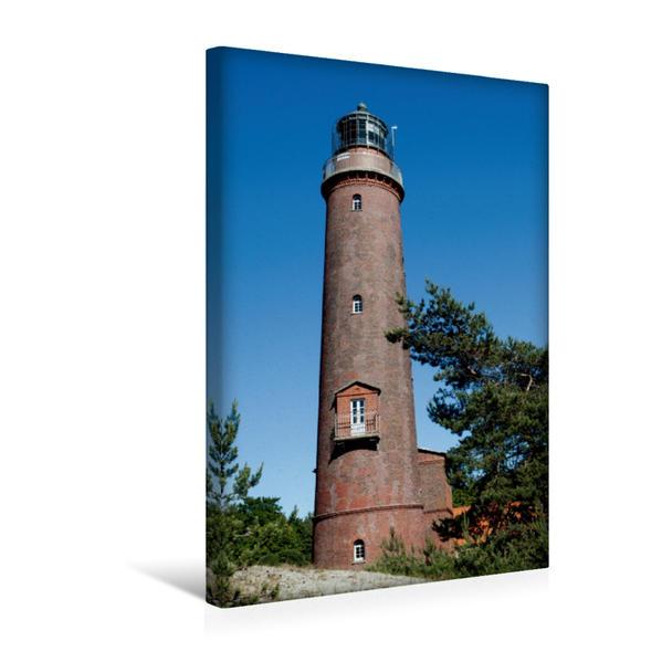 Premium Textil-Leinwand 30 cm x 45 cm hoch, Leuchtturm Darßer Ort   Wandbild, Bild auf Keilrahmen, Fertigbild auf echter Leinwand, Leinwanddruck - Coverbild