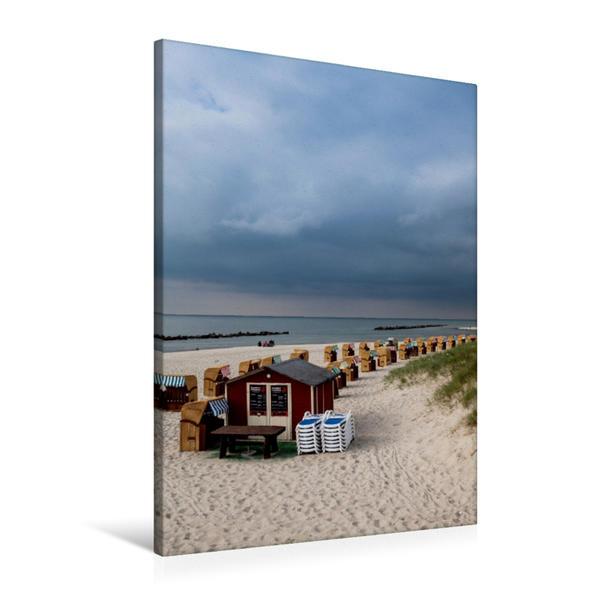 Premium Textil-Leinwand 60 cm x 90 cm hoch, Am Ostseestrand | Wandbild, Bild auf Keilrahmen, Fertigbild auf echter Leinwand, Leinwanddruck - Coverbild