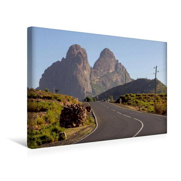 Premium Textil-Leinwand 45 cm x 30 cm quer, Adua Berge bei Axum | Wandbild, Bild auf Keilrahmen, Fertigbild auf echter Leinwand, Leinwanddruck - Coverbild