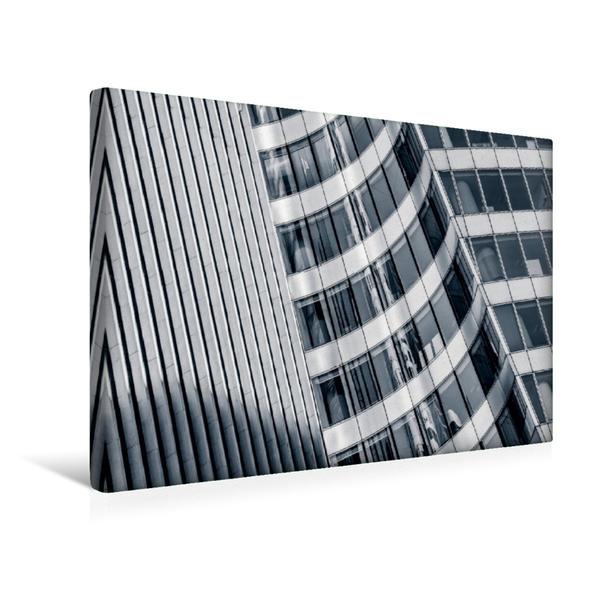 Premium Textil-Leinwand 45 cm x 30 cm quer, Fassade EDF Tower | Wandbild, Bild auf Keilrahmen, Fertigbild auf echter Leinwand, Leinwanddruck - Coverbild