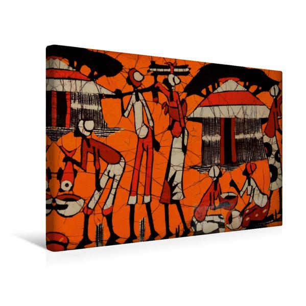 Premium Textil-Leinwand 45 cm x 30 cm quer, Dorfszene | Wandbild, Bild auf Keilrahmen, Fertigbild auf echter Leinwand, Leinwanddruck - Coverbild