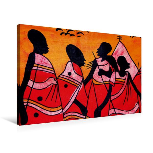 Premium Textil-Leinwand 75 cm x 50 cm quer, Farbenfrohes Afrika | Wandbild, Bild auf Keilrahmen, Fertigbild auf echter Leinwand, Leinwanddruck - Coverbild