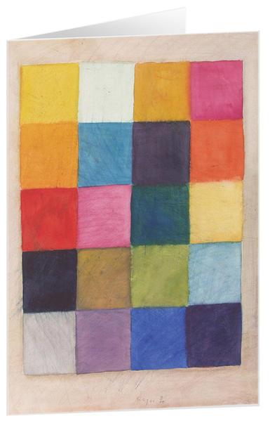 Farbenvielfalt - Kunst-Faltkarten ohne Text (5 Stück) - Coverbild