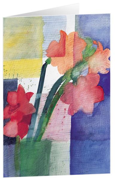 Amaryllis - Kunst-Faltkarten ohne Text (5 Stück) - Coverbild