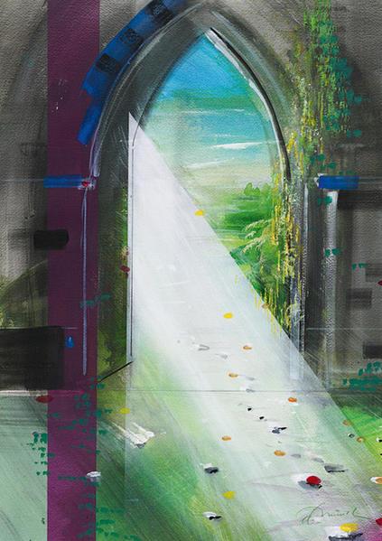 Torbogen - Kunst-Faltkarten ohne Text (5 Stück) * - Coverbild
