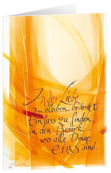 In der Liebe bleiben - Kunst-Faltkarten mit Text (5 Stück) - Coverbild