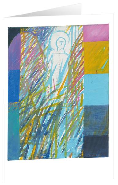 Engel 1 - Kunst-Faltkarten ohne Text (5 Stück) - Coverbild