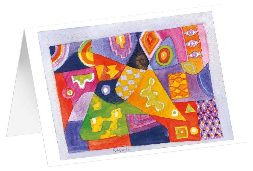 Ornament 2 - Kunst-Faltkarten ohne Text (5 Stück) - Coverbild