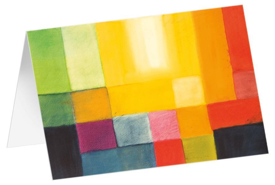 Lichtschein 4 - Kunst-Faltkarten ohne Text (5 Stück) - Coverbild