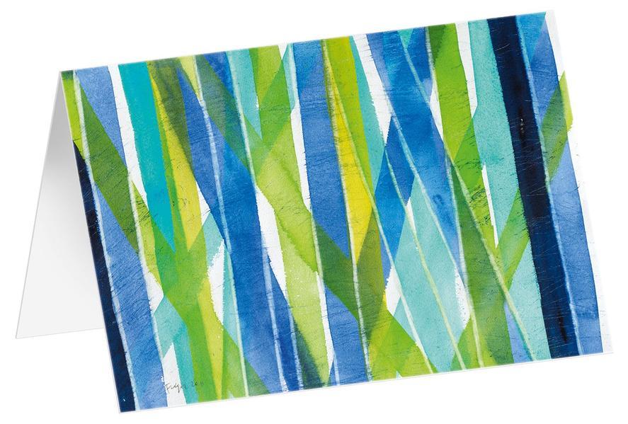Streifen 1 - Kunst-Faltkarten ohne Text (5 Stück) - Coverbild