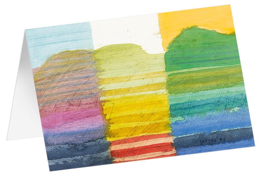 Sonnenuntergang - Kunst-Faltkarten ohne Text (5 Stück) - Coverbild
