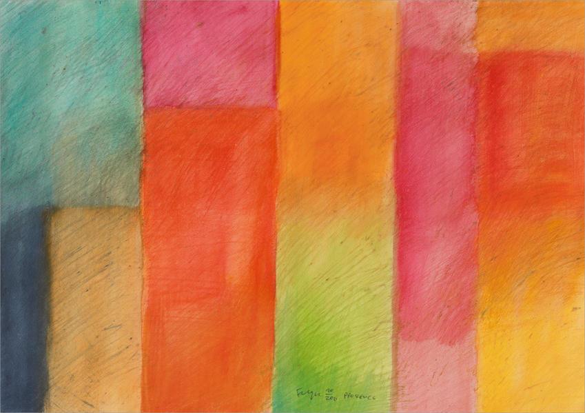 Farbpalette - Kunst-Faltkarten ohne Text (5 Stück) - Coverbild