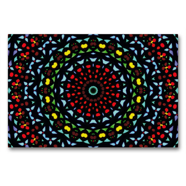 Premium Textil-Leinwand 90 cm x 60 cm quer, Mandala 12 | Wandbild, Bild auf Keilrahmen, Fertigbild auf echter Leinwand, Leinwanddruck - Coverbild