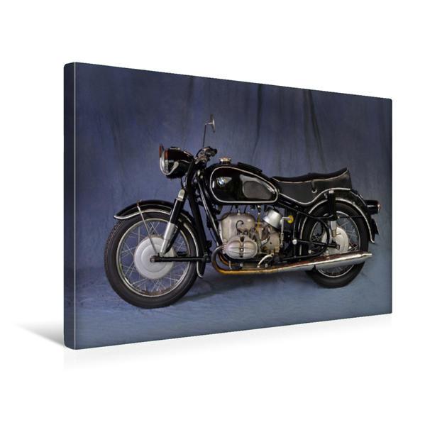 Premium Textil-Leinwand 45 cm x 30 cm quer, BMW R 69 S Baujahr 1960 | Wandbild, Bild auf Keilrahmen, Fertigbild auf echter Leinwand, Leinwanddruck - Coverbild