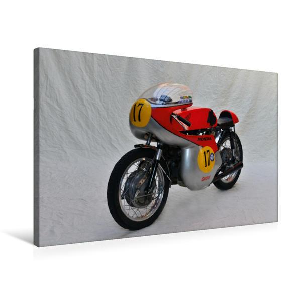 Premium Textil-Leinwand 75 cm x 50 cm quer, Ein Motiv aus dem Kalender Honda CB 72 | Wandbild, Bild auf Keilrahmen, Fertigbild auf echter Leinwand, Leinwanddruck - Coverbild
