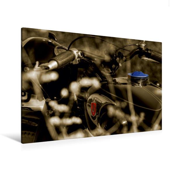 Premium Textil-Leinwand 120 cm x 80 cm quer, Ein Motiv aus dem Kalender Zündapp DB 200 - ein Traum   Wandbild, Bild auf Keilrahmen, Fertigbild auf echter Leinwand, Leinwanddruck - Coverbild