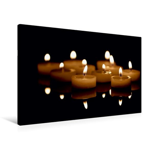 Premium Textil-Leinwand 90 cm x 60 cm quer, Adventszeit | Wandbild, Bild auf Keilrahmen, Fertigbild auf echter Leinwand, Leinwanddruck - Coverbild