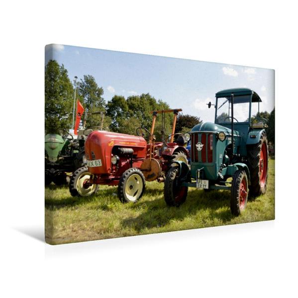 Premium Textil-Leinwand 45 cm x 30 cm quer, Oldtimer Traktoren | Wandbild, Bild auf Keilrahmen, Fertigbild auf echter Leinwand, Leinwanddruck - Coverbild