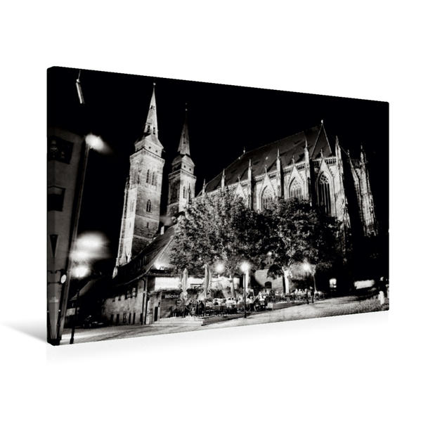 Premium Textil-Leinwand 75 cm x 50 cm quer, Nürnberg   Wandbild, Bild auf Keilrahmen, Fertigbild auf echter Leinwand, Leinwanddruck - Coverbild