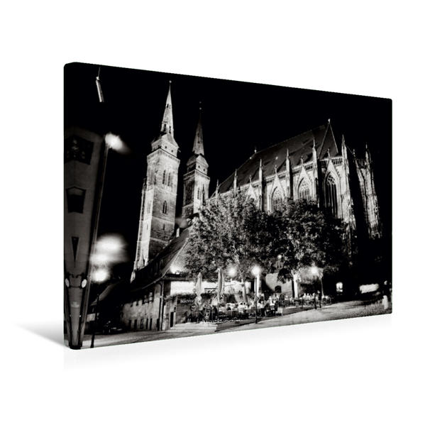 Premium Textil-Leinwand 45 cm x 30 cm quer, Nürnberg | Wandbild, Bild auf Keilrahmen, Fertigbild auf echter Leinwand, Leinwanddruck - Coverbild