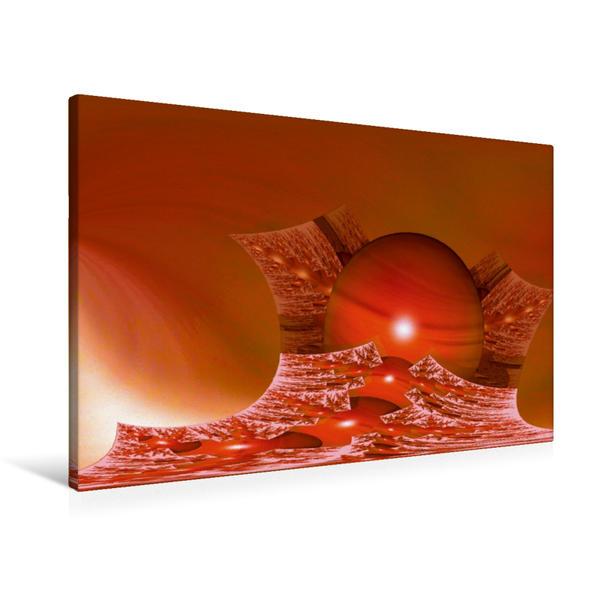 Premium Textil-Leinwand 90 cm x 60 cm quer, Ein Motiv aus dem Kalender Meine abstrakte Bilderwelt | Wandbild, Bild auf Keilrahmen, Fertigbild auf echter Leinwand, Leinwanddruck - Coverbild