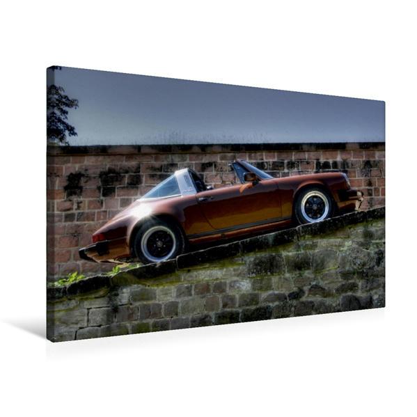 Premium Textil-Leinwand 75 cm x 50 cm quer, Ein Motiv aus dem Kalender Porsche 911SC - zwei starke Typen | Wandbild, Bild auf Keilrahmen, Fertigbild auf echter Leinwand, Leinwanddruck - Coverbild