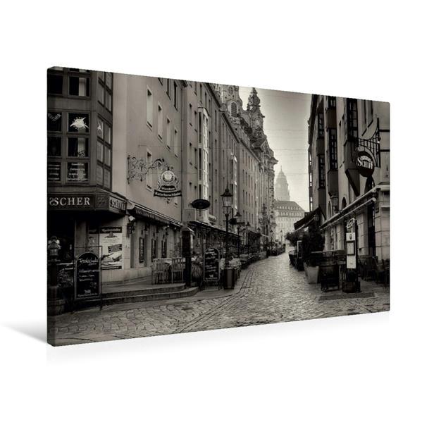 Premium Textil-Leinwand 75 cm x 50 cm quer, Blick in die Münzgasse | Wandbild, Bild auf Keilrahmen, Fertigbild auf echter Leinwand, Leinwanddruck - Coverbild